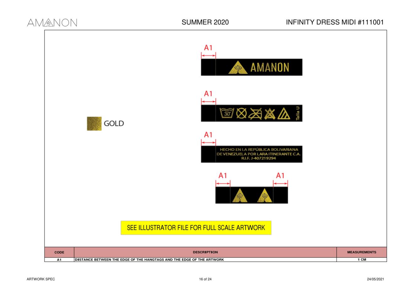 Spécifications des graphismes d'une fiche technique